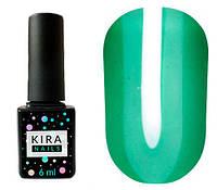 Kira Nails Гель лак Vitrage №V06 (зелений зеленка, вітражний), 6 мл