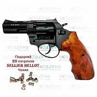 """Револьвер под патрон флобера Stalker S 3"""" Brown (барабан - силумин)"""