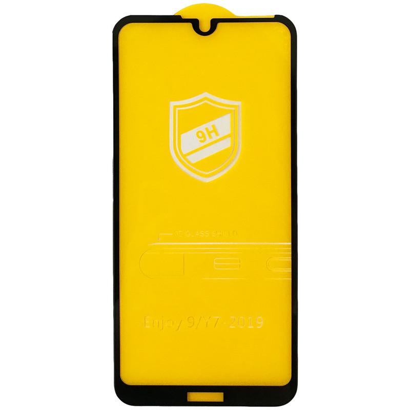 Защитное стекло Tempered Glass 9H for Huawei Y7 2019 black тех. пак.