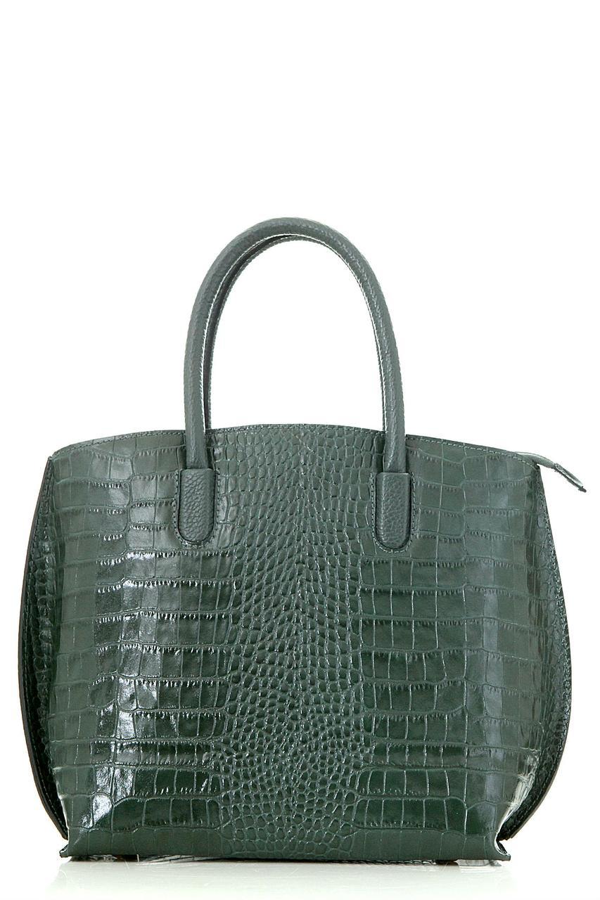 Diva's Bag Женская кожаная сумка RUFA цвет темно-зеленый