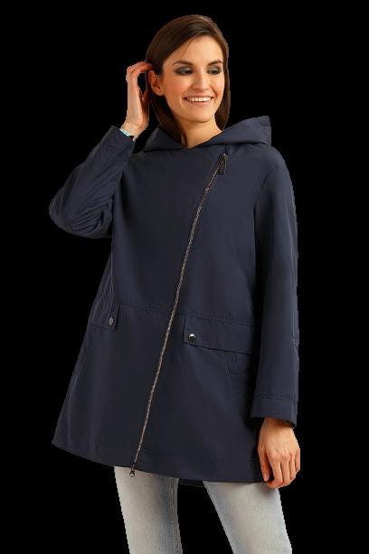 Ветровка женская Finn Flare B19-32000-101 с капюшоном темно-синяя