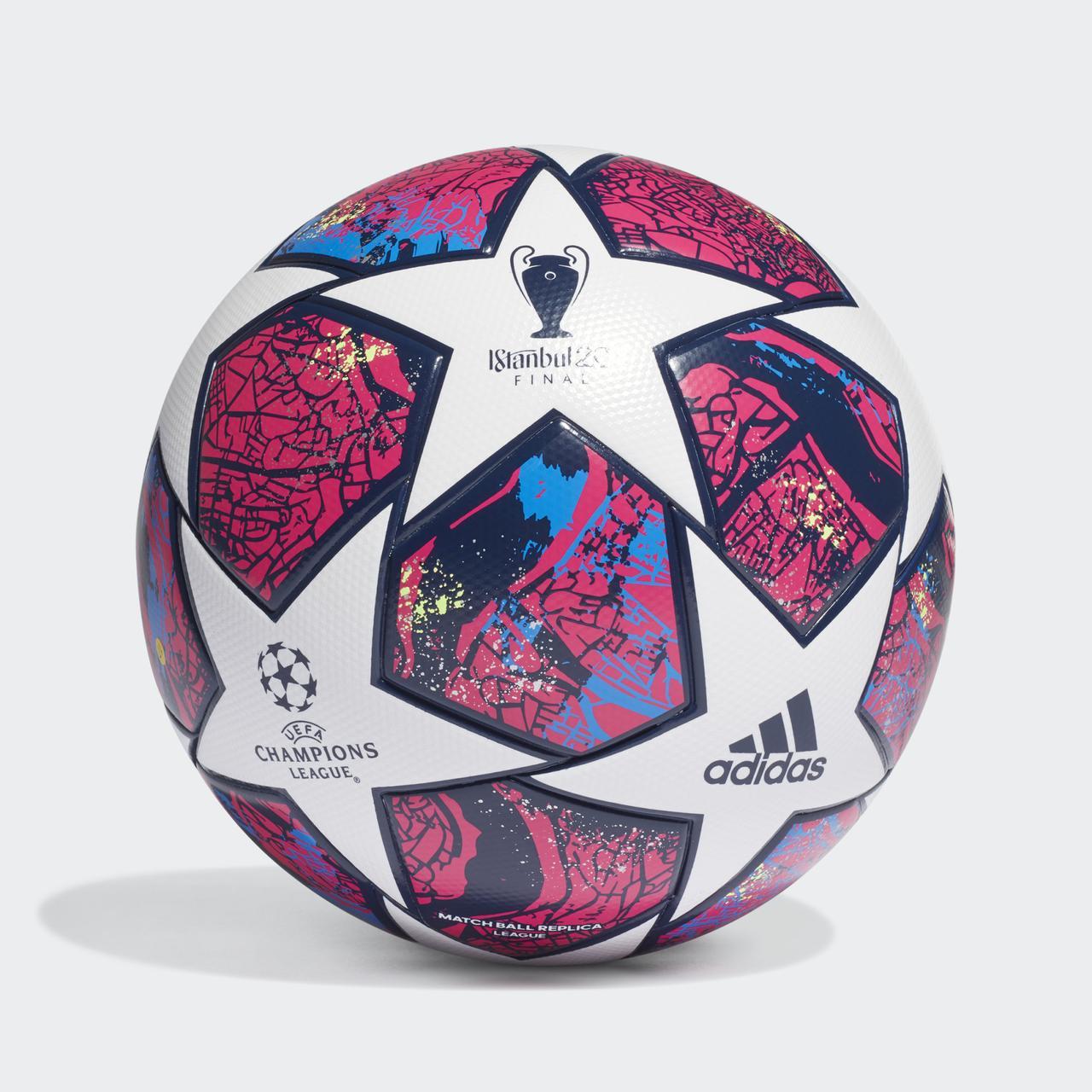 Мяч футбольный Adidas Finale Istanbul League Fifa №5 FH7340 Белый