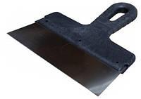 Шпатель 150 мм из нержавеющей стали с ручкой из черного пластика Польша
