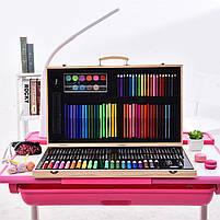 Набор для рисования Painting Set 180 предметов Чемоданчик Карандаши Краски Палитра Степлер, фото 8