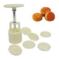 Кондитерский пресс для печенья Lesko YL-228-7 (6 насадок) шприц формовщик для выпекания печенья разной формы