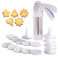 Кондитерский шприц с насадками Cookie Press YL-147 с 18 насадками кухонный пресс для крема