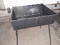 Мангал чемодан на 10 шампуров толщина 2 мм.