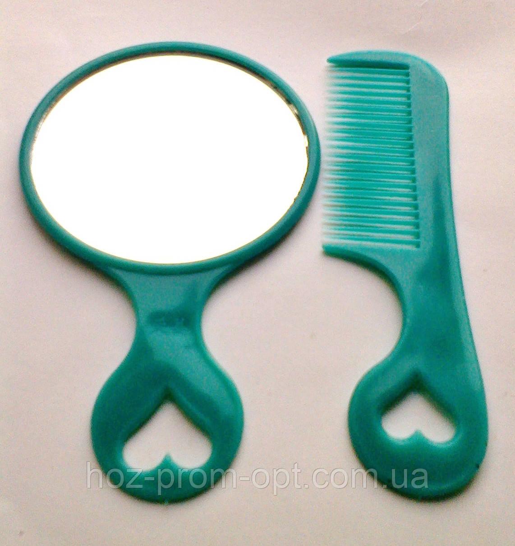 Набор: Зеркало+расчёска.