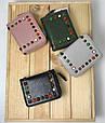 Мини кошелек с шипами и отделом для мелочи на молнии (0844) Черный, фото 6