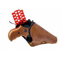 Пистолет Edison Giocattoli Derek Steel 19см 6-зарядный с кобурой и пульками SKL17-139983