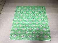 Коврик силиконовый для кухонной раковины Лепестки 25х29,5 см / салатовый