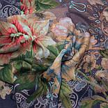 10467-14, павлопосадский платок шерстяной (разреженная шерсть) с швом зиг-заг, фото 10