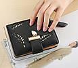 Невеликий гаманець з перфорацією, застібка кнопки + блискавка (0842) Рожевий, фото 5
