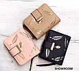 Невеликий гаманець з перфорацією, застібка кнопки + блискавка (0842) Рожевий, фото 7