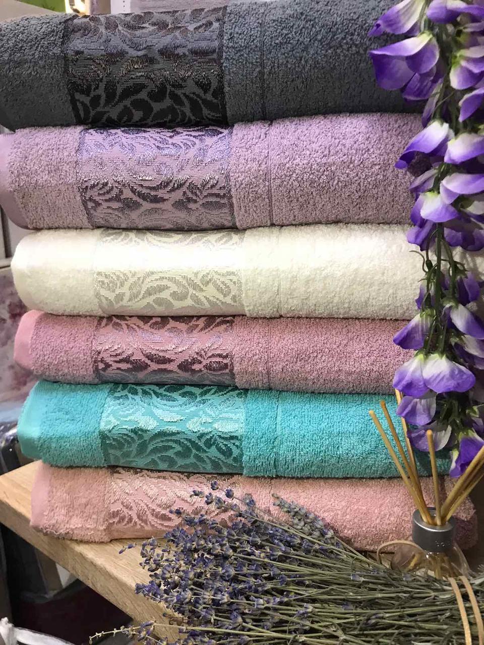 """Набор махровых полотенец для бани в упаковке  6 шт """"Gulcan"""", размер 70*140"""