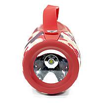 Блютуз колонка ZEALOT S29 Red Camouflage FM радио 10 Вт павер банк фонарь батарея 2000 мАч, фото 3