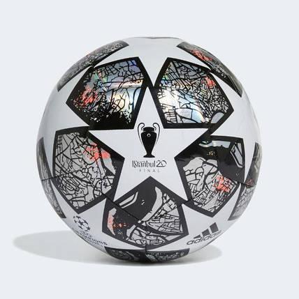 Мяч футбольный Adidas Мяч Finale Istanbul Club FH7346 №5 Белый с черным, фото 2