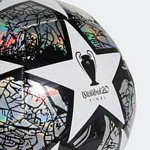 Мяч футбольный Adidas Мяч Finale Istanbul Club FH7346 №5 Белый с черным, фото 3