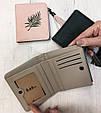 Мини кошелек с кисточкой и рисунком листочка (0840) Серый, фото 8