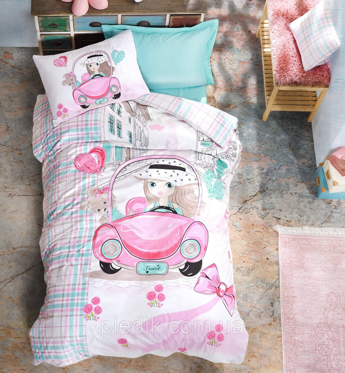 Подростковое постельное белье Cotton Box PARIS LOVE