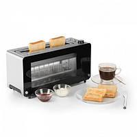 Тостер Klarstein Canyon Toaster с двойным стеклом и поворотным регулятором мощности 1200 Вт Германия