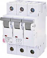 Автоматический выключатель ETIMAT 6 3p С 16А (6 kA) ETI, 2145516 модульный автомат трехполюсный