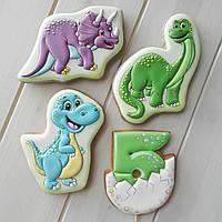 Имбирные пряники для детей Динозавры