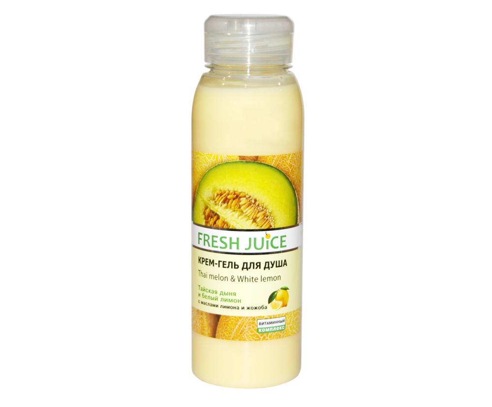 """Крем-гель для душу """"Тайська диня і білий лимон"""" Fresh Juice 300 ml"""