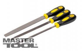 MasterTool  Напильники по металлу 3 шт, 200 мм, плоский/круглый/трёхгранный, Арт.: 06-0210