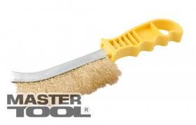 MasterTool  Щетка проволочная латунированная с пластиковой ручкой, Арт.: 14-5524