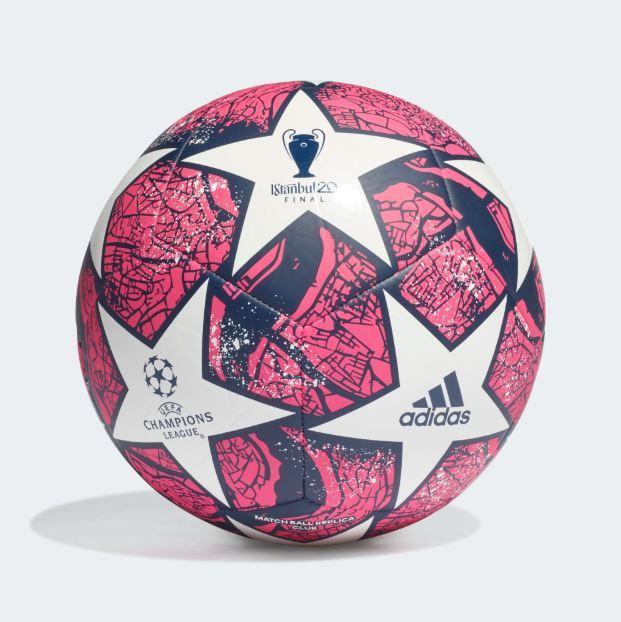 Мяч футбольный Adidas Мяч Finale Istanbul Club FH7377 №4 Белый с красным