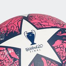 Мяч футбольный Adidas Мяч Finale Istanbul Club FH7377 №4 Белый с красным, фото 3