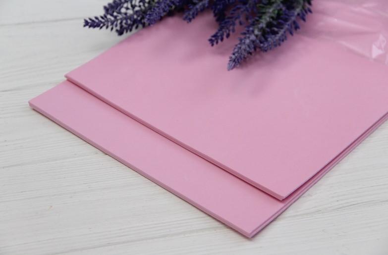 Фоамиран обычный   20*30 см  ,   розовый                    10 листов