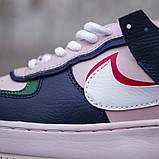 Женские кроссовки в стиле Nike Air Force Shadow White, Найк Аир Форс (Реплика ААА), фото 4