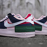 Женские кроссовки в стиле Nike Air Force Shadow White, Найк Аир Форс (Реплика ААА), фото 5