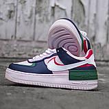 Женские кроссовки в стиле Nike Air Force Shadow White, Найк Аир Форс (Реплика ААА), фото 2
