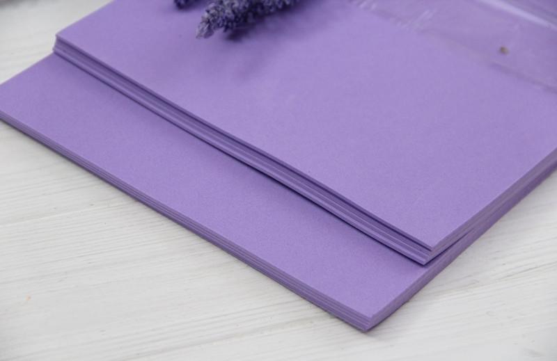 Фоамиран обычный   20*30 см  ,     фиолетовый                  10 листов