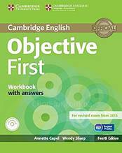 Objective First Fourth Edition Workbook with answers and Audio CD / Тетрадь с ответами