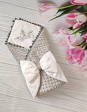 Детский демисезонный конверт на выписку, конверт-одеяло (ВЕСНА/ОСЕНЬ), конверт-плед для новорожденного, фото 3