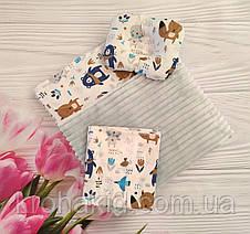 """Набор в коляску """"Шиншила"""" 3 предмета: подушка, плед, простынь  / комплект постельного белья в детскую коляску, фото 3"""