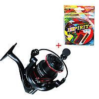 Катушка Fishing ROI Viper 2500 FD (5+1) + Шнур BratFishing Espirit Zebra на 8 нитей, фото 1