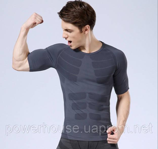 Мужская спортивная компрессионная футболка