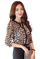 Стильная блузка леопардовый принт