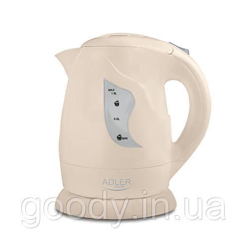 Чайник електричний (пластик) Adler AD08B 1 л 850 Вт