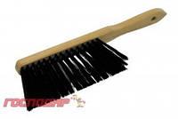 Господар  Щетка для мусора с деревянной ручкой 295*25*70 мм ПП 3-рядная, Арт.: 14-6370