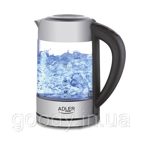 Чайник електричний з контролем температури Adler AD 1247 1,7 л 2200 Вт