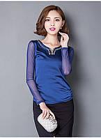 Яркая блузка с украшением, 3 цвета, фото 1