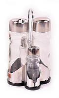 Набор соль/перец Benson BN-1022 / набор для специй на подставке / солонка и перечница Бенсон