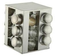 Набор баночек для специй Benson BN-174 из 12 сосудов / спецовник 12 шт на подставке