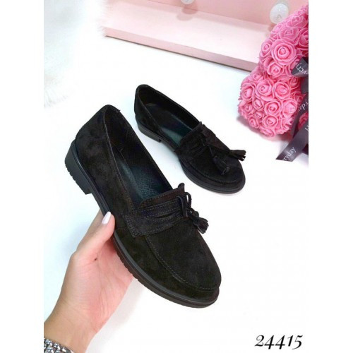 Замшевые туфли Pradine черные